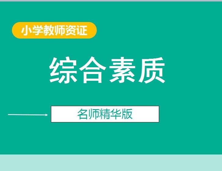 小学教师资格证-综合素质精华版
