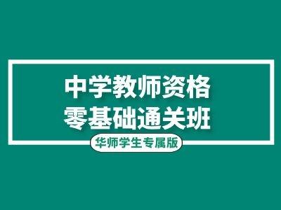 中学教师资格零基础通关班(华师学生专属)